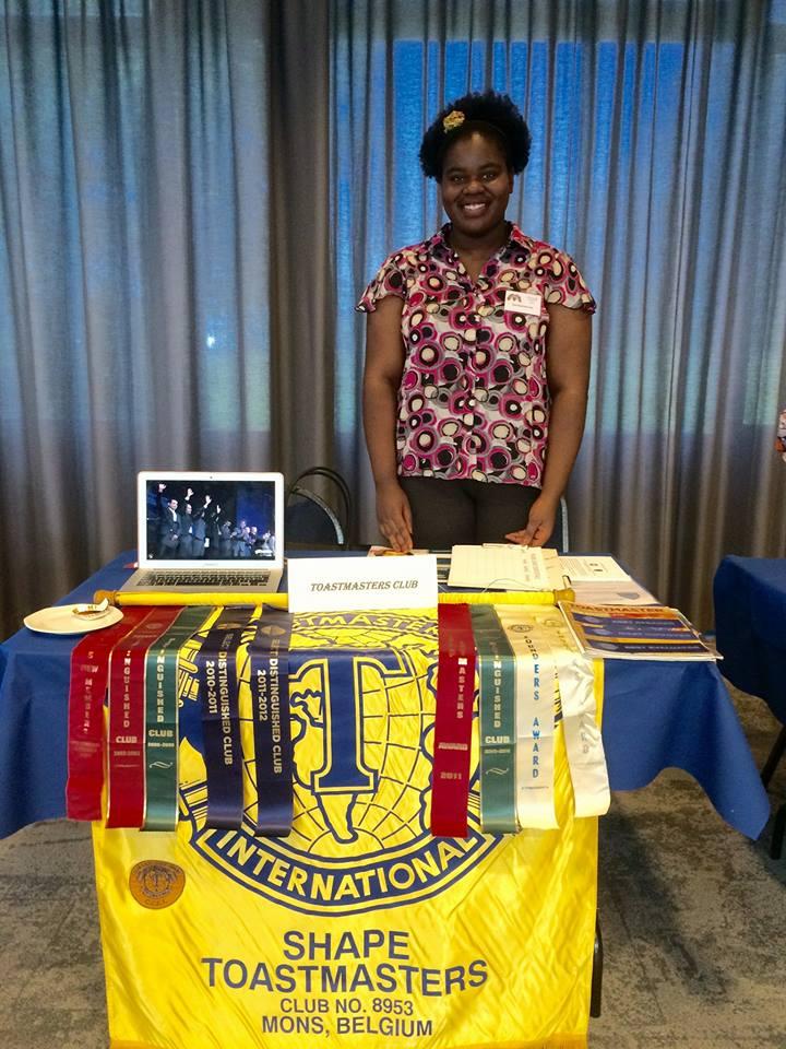 La secrétaire du club SHAPE Laetitia Mampaka